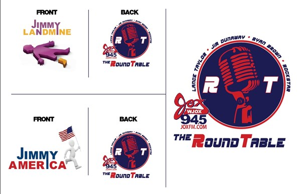 Print Design: Jox94.5 Roundtable Logo and T-shirts